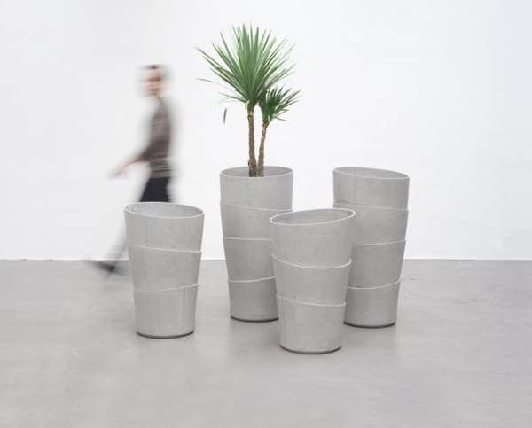 Faux Layered Pots