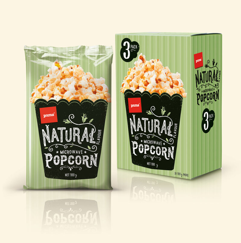 Wholesome Popcorn Branding