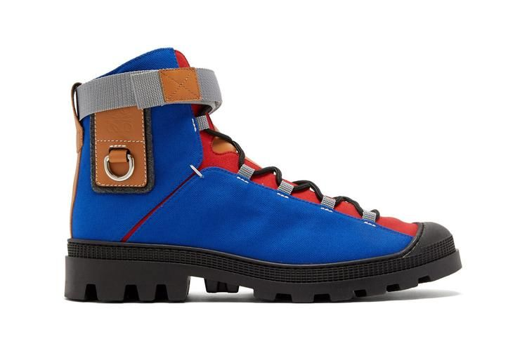 Color-Blocked Hiking Boots