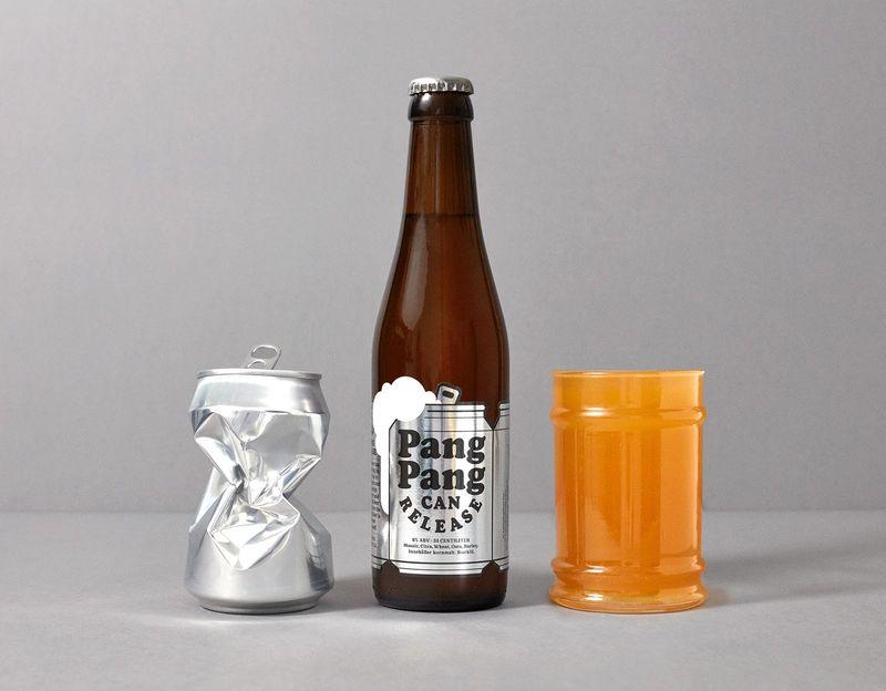 Can-Shaped Beer Bottle Labels