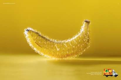 Bubble-Wrapped Food Ads