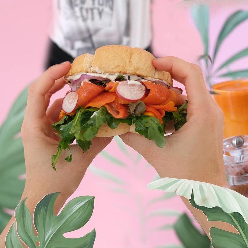Smoky Papaya Sandwiches