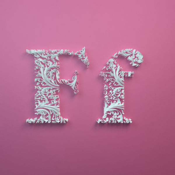 Intricate Pulp Alphabets