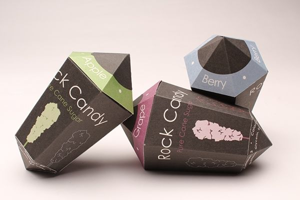 Geometrical Rock Candy Packaging