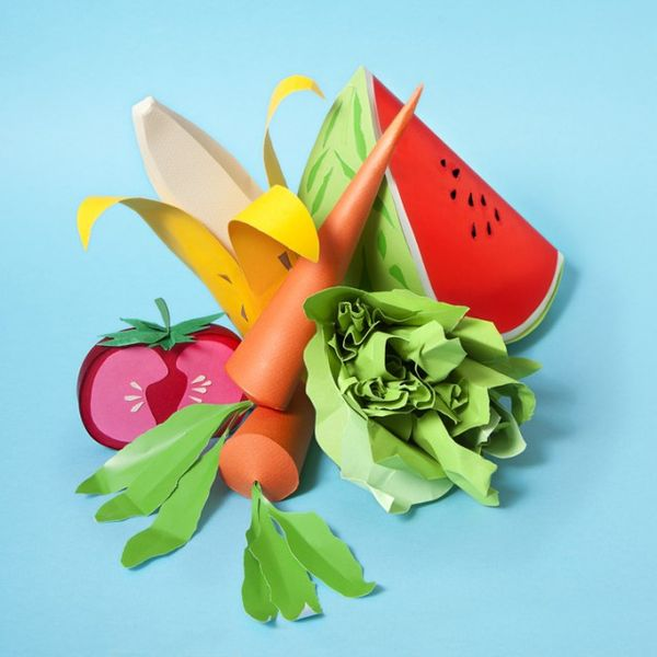Paper-Made Food Sculptures