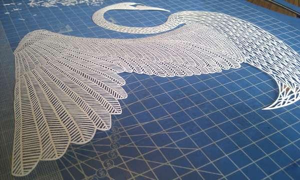 Intricate Avian Papercrafts