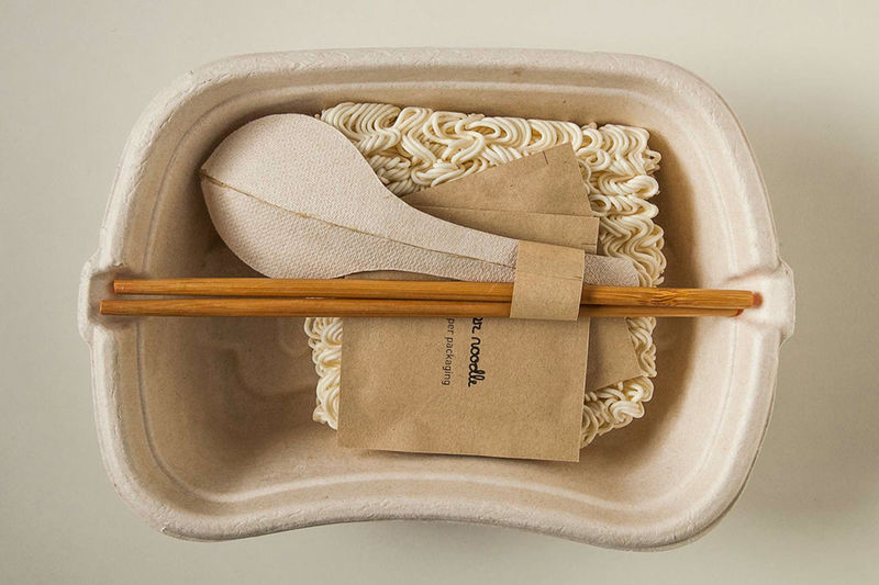 Plastic-Free Noodle Packaging