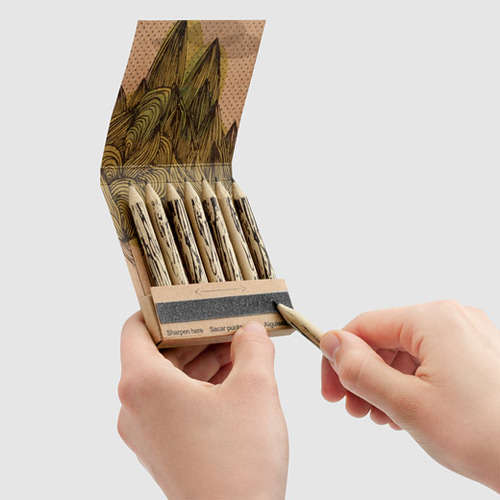 Sustainable Matchstick Stationery