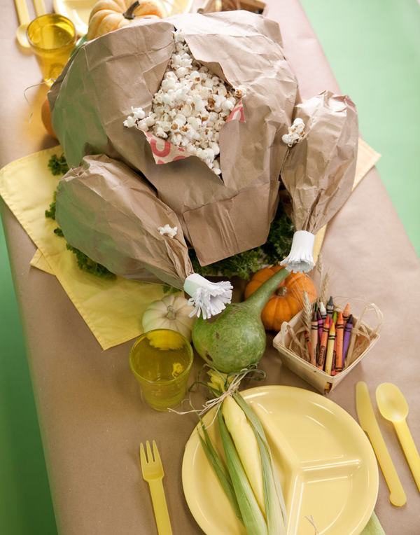 Popping Paper Turkey Centerpieces