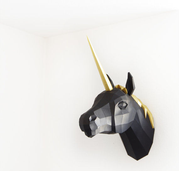 Papercraft Unicorn Taxidermy