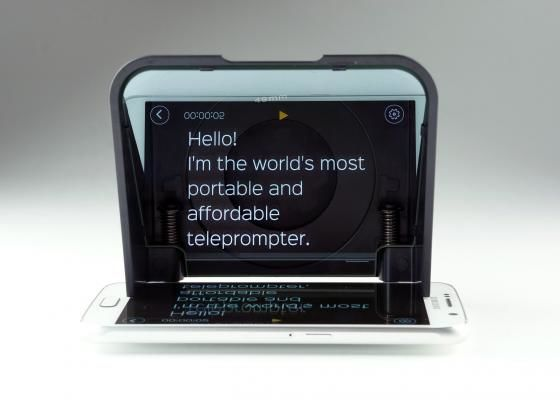 Smartphone-Adapted Teleprompters
