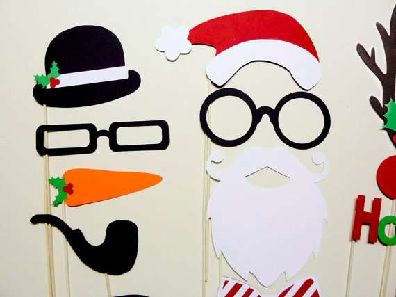Paper Holiday Mascot Masks