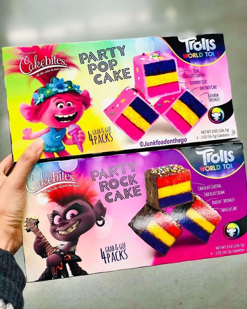 Cartoon-Themed Cake Bites