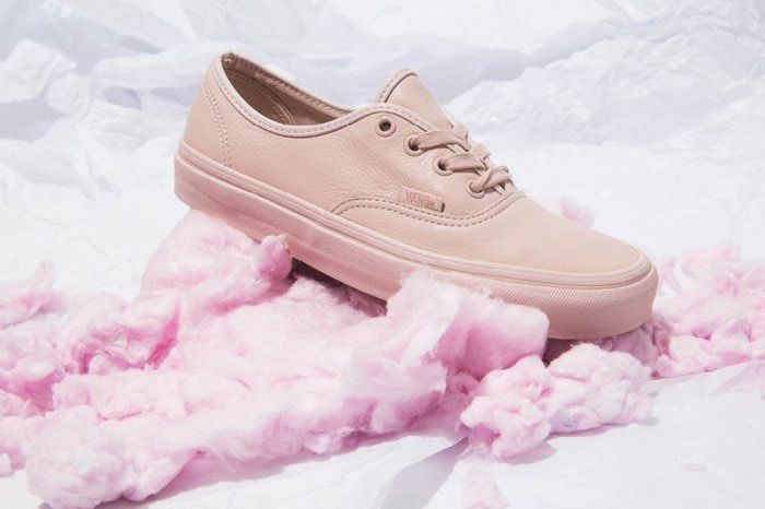 All-Leather Pastel Sneakers