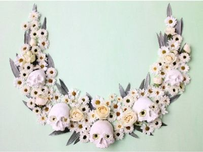 Hauntingly Beautiful Skull Prints