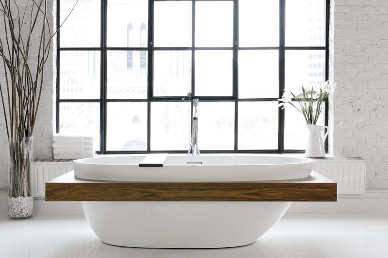 Wood-Accented Eco Tubs
