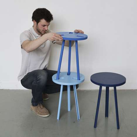 Playful Piggybacking Chairs