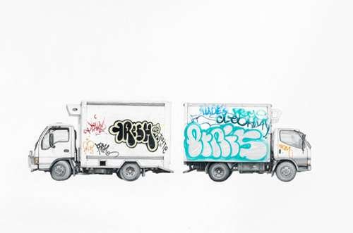 Graffitied Vehicle Drawings
