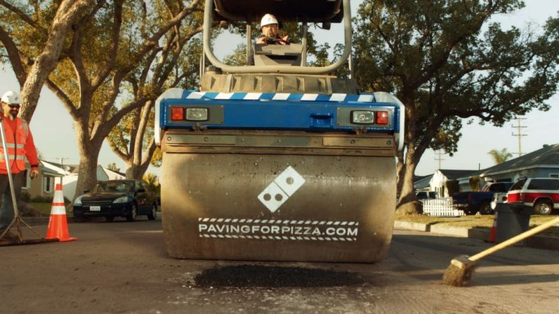 Pizza-Funded Road Paving