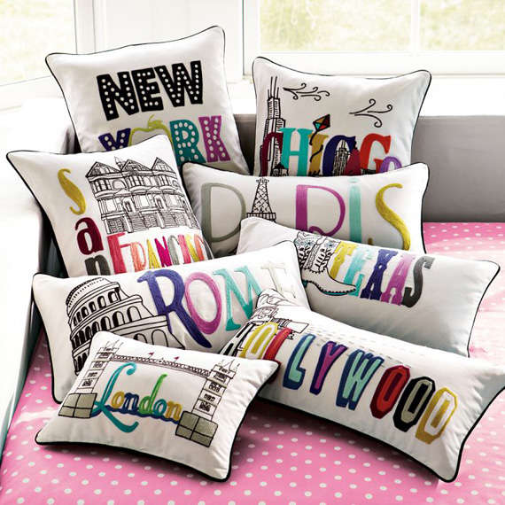 Darling Destination Pillows Pb Teen Pillow