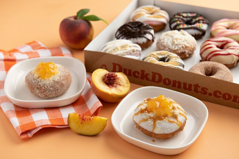 Made-to-Order Peach Donuts