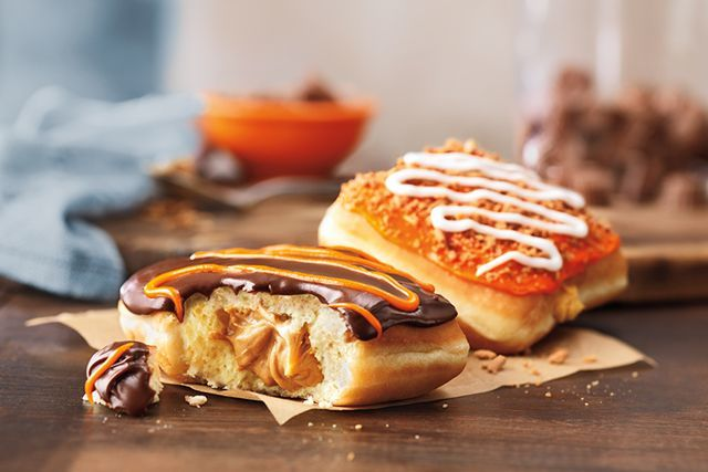 Cheesy Pumpkin Donuts
