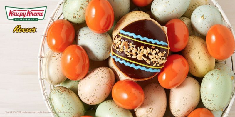 Nutty Easter Egg Donuts