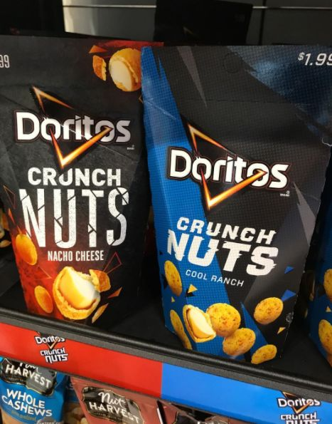 Chip-Covered Nut Snacks