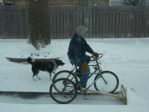 Cycling Snow-Shovelers
