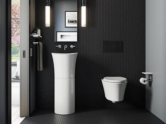 Minimal Pedestal Bathroom Sinks