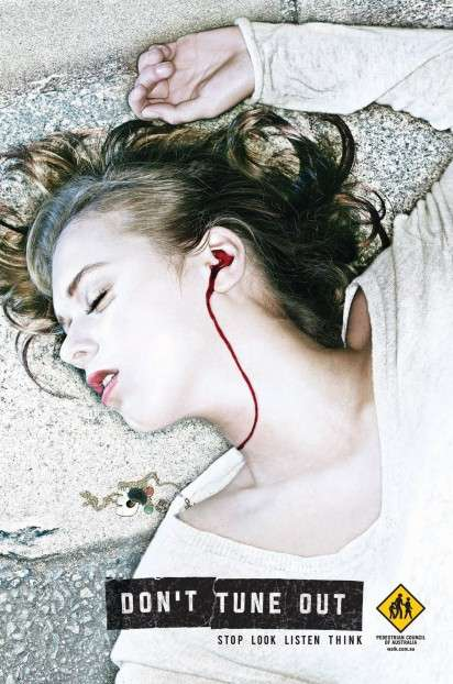 Bloody Earphone Ads
