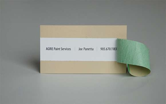 Peeling Business Cards