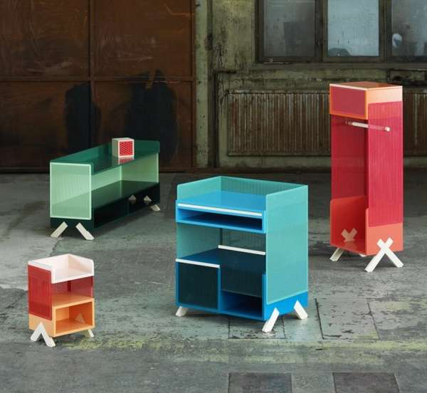 Colorfully Perforated Furniture