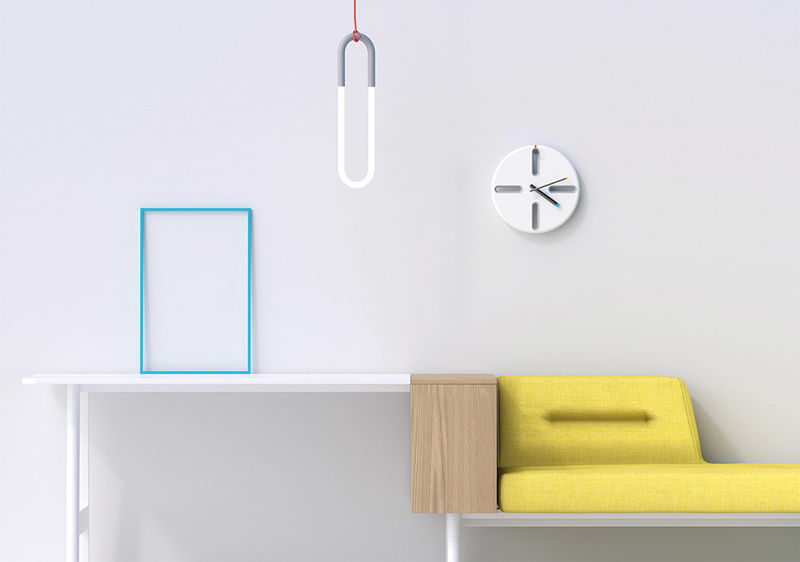 Stylishly Slotted Wall Clocks