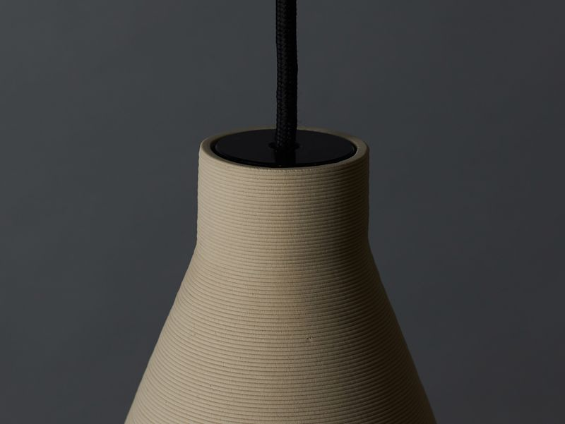 3d Printed Clay Lamps Pelo Light