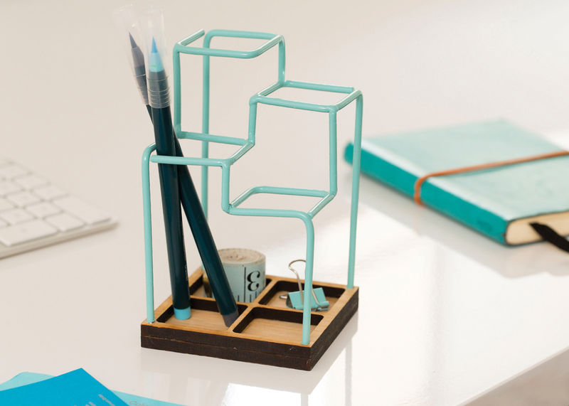 Pen Stand Designs : Geometric pen holders holder design