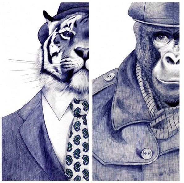 Realistic Pen Illustrations