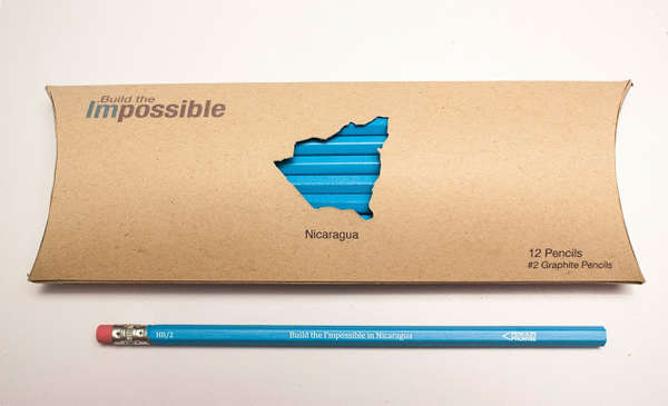 Topographic Pencil Packaging