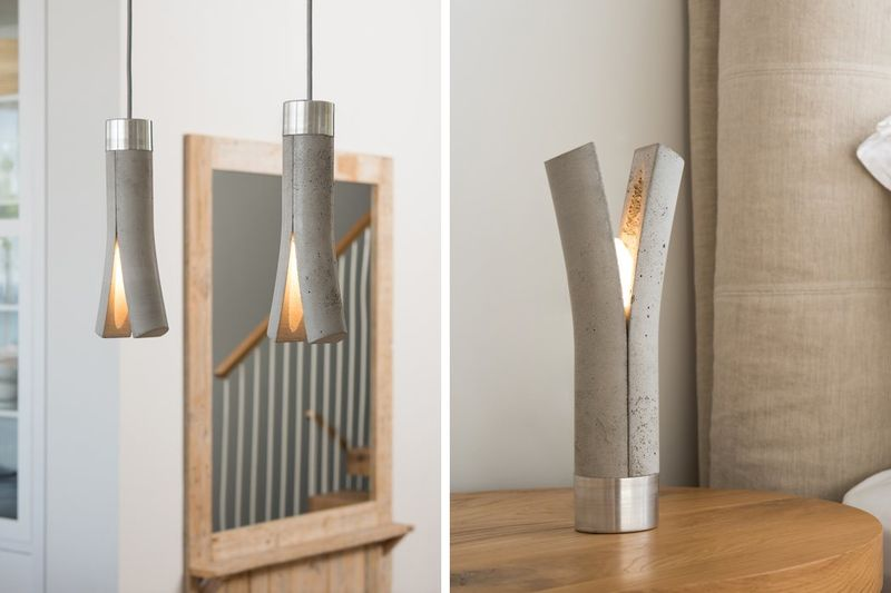 Split Concrete Lamps