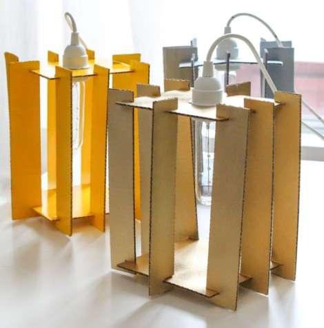 DIY Cardboard Cutout Lamps