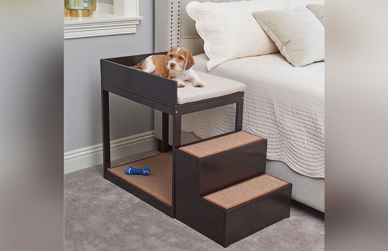 Staircase-Equipped Pet Beds
