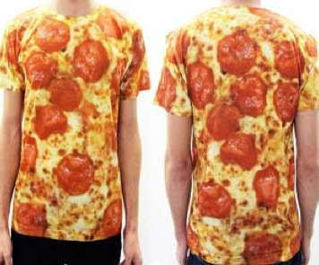 Fast Food Apparel Pepperoni Pizza Shirt