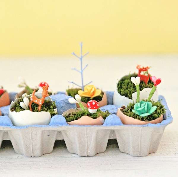 Adorable Egg Carton Planters