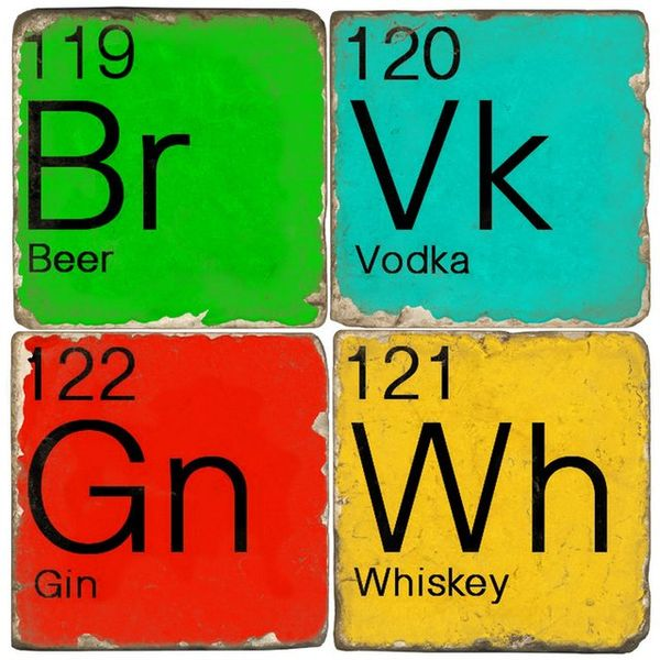 Colorful Chemistry Coasters  sc 1 st  Trend Hunter : table coasters for drinks - pezcame.com