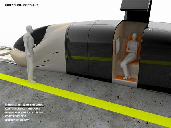 Futuristic Public Transit Pods