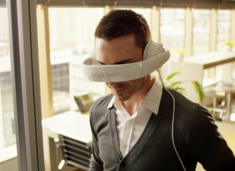 Wearable Headphone Screens