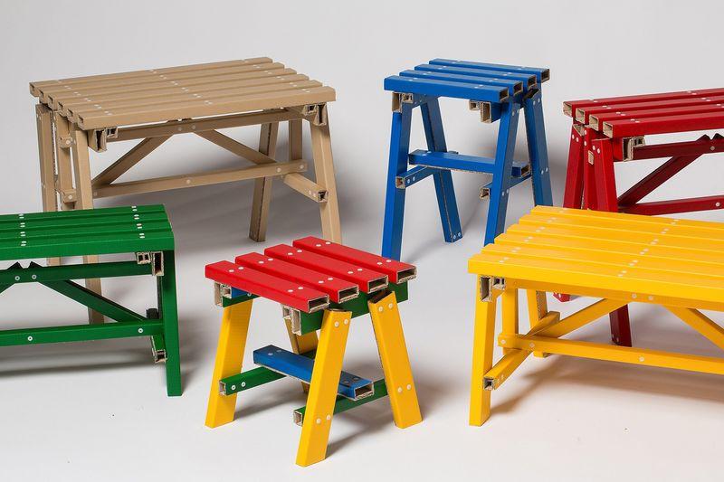 Flat-Pack Cardboard Side Tables