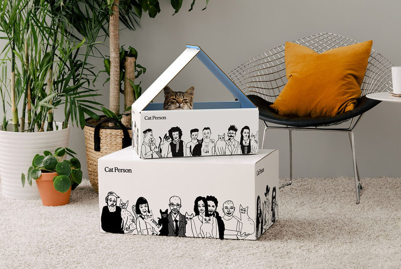 Cat-Friendly Shipping Boxes