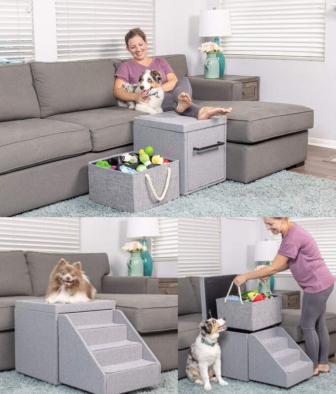 Storage-Equipped Pet Stairs