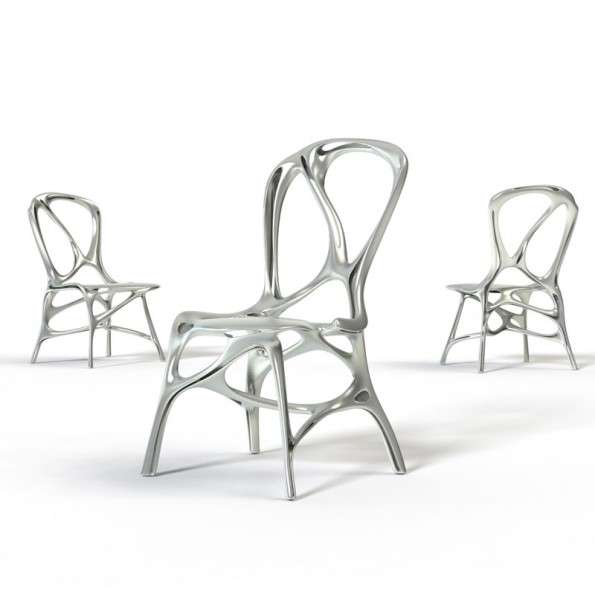Scribbly Aluminum Seating
